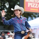 Oregon Gov. Kate Brown at the Pendleton Round-Up (office of the governor)