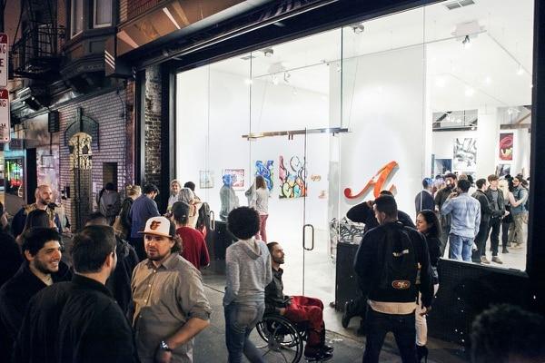 White Walls Gallery in San Francisco's Tenderloin District. (Brock Brake)