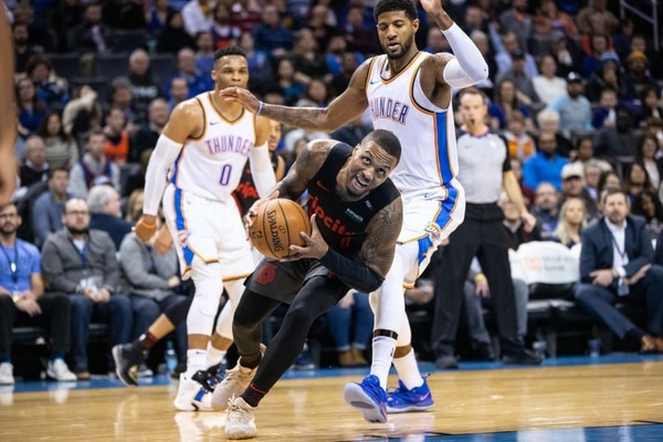 Trail Blazers face the Oklahoma City Thunder on January 22, 2019. (Bruce Ely / Trail Blazers)