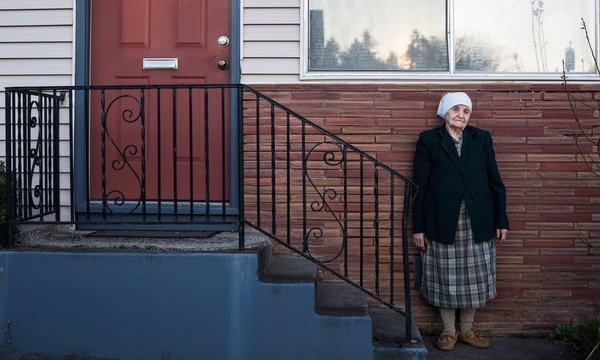 A former Ukrainian farm worker, Anna Landya, 91, moved to Portland to avoid religious persecution. (Walker Stockly)