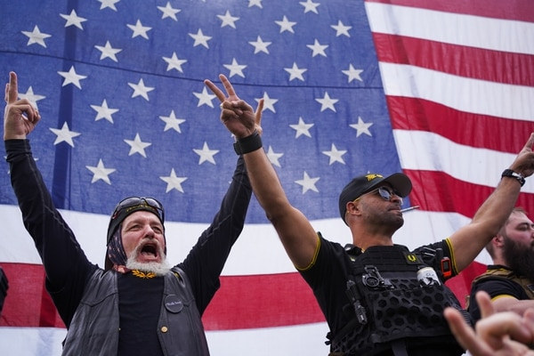 Proud Boys rally in Delta Park on Sept. 26, 2020. (Alex Wittwer)