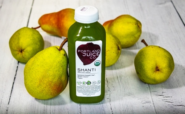 Portland Juice Co. favors a sweeter pear taste for their Shanti juice. (By Lexi Pierson, courtesy of Portland Juice Co.)