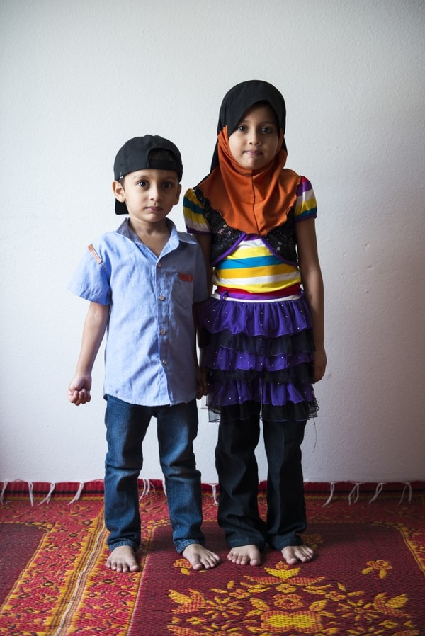NEW KIDS: Mohamad (left) and his sister, Jowairah. (Thomas Teal/WW)