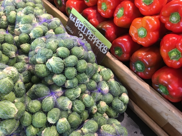 Brussels sprouts at New Seasons. (WW staff)