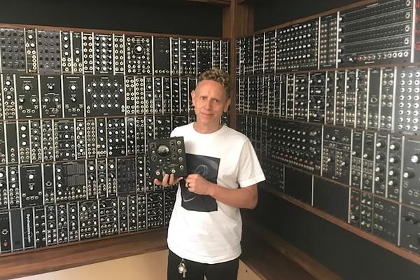 (Martin Gore of Depeche Mode with an Electron Fuzz Custom CV Pedal from Portland's Retro Mechanical Labs, courtesy of Retro Mechanical Labs)