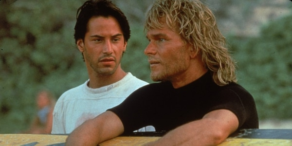 Keanu Reeves and Patrick Swayze in Point Break (Photo by Richard Foreman)