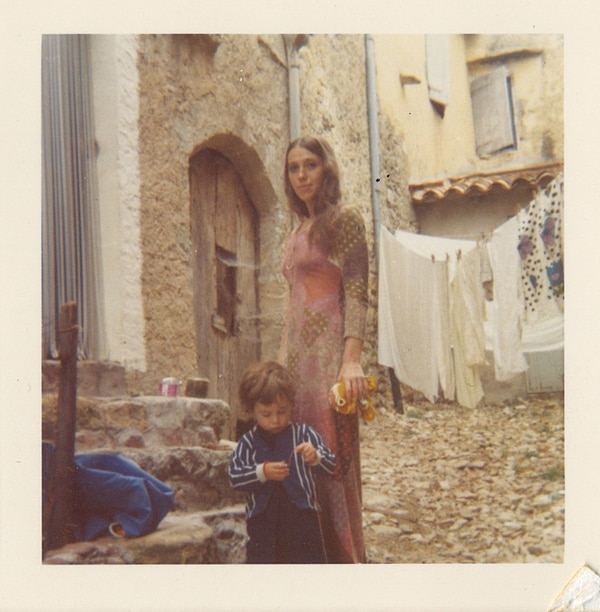 Dunn and her son Eli in Europe. (courtesy of Katherine Dunn estate)