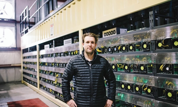 "Terrence Thurber brought his Bitcoin mining operation to The Dalles in 2014. ""If you could give me a great strategy game, a couple growlers of good craft beer and a weekend with my dogs,"" he says, ""I'd be pretty content."" (Christine Dong)"