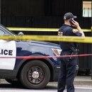Police at the scene of a hit-and-run at Portland State University. (Carter Maynard / KATU-TV)