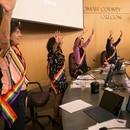The Multnomah County Board of Commissioners proclaims Pride Month. (Motoya Nakamura / Multnomah County)