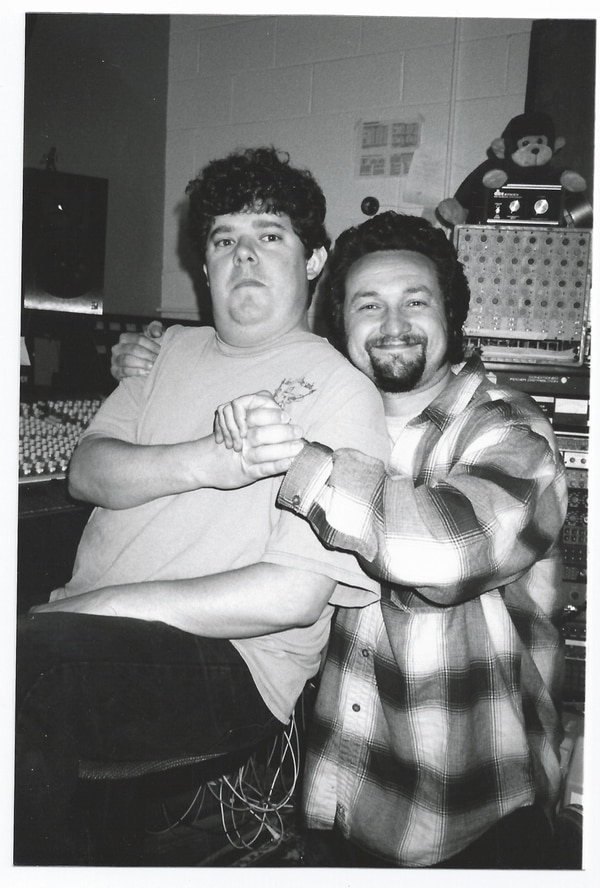 Fernando (seated) and Larry Crane in 1999. IMAGE: Courtesy of Larry Crane.