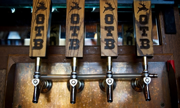 Old Town Brewing tap handles. (Hunter Murphy)