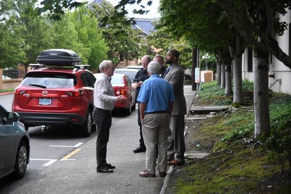 Stuart Lindquist meets with Portland city officials on June 21. (Jason Wilson)