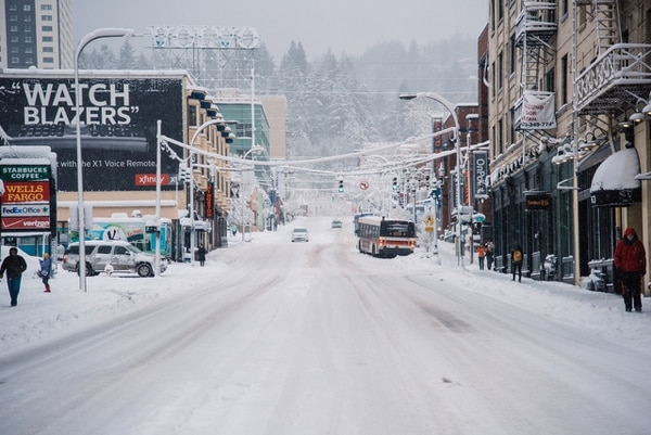 West Burnside Street, Jan. 11, 2017. (Joe Riedl)