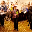 Supporters of the Democratic Party of Oregon celebrate election night 2012 in the Portland Hilton. (Natalye St. Lucia)