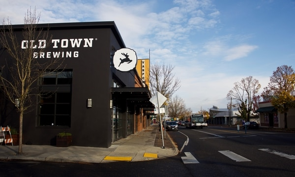 Old Town Brewing's taproom on Northeast Martin Luther King Jr. Boulevard. (Hunter Murphy)