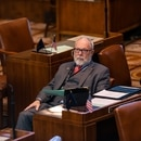 State Sen. Arnie Roblan (D-Coos Bay) on the Oregon Senate floor.