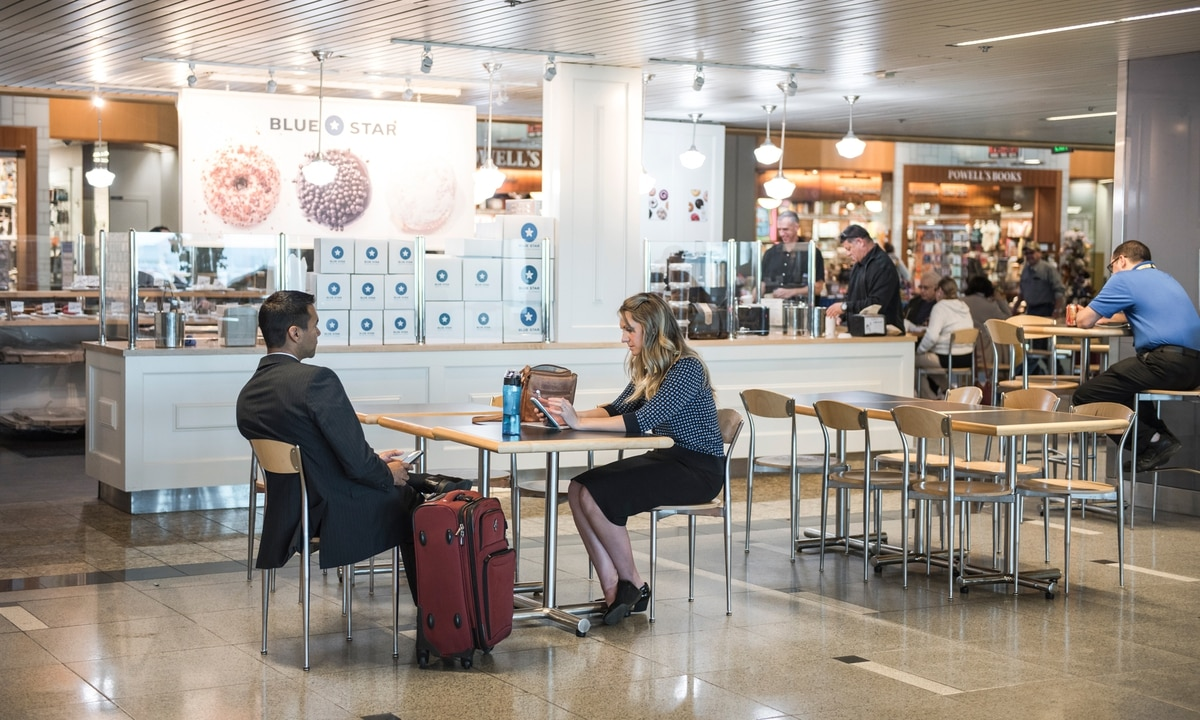Portland Based Blue Star Donuts Began Doing Business At Pdx In 2016 Along With Local Operations Tamale Boy And Tender Loving Empire Thomas Teal