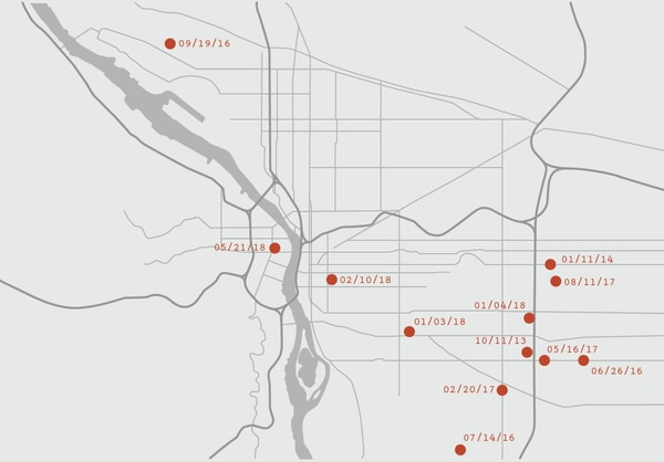 About 1 in 8 fatal shootings have been deemed justified in Portland since 2013—a rate far higher than the national average.