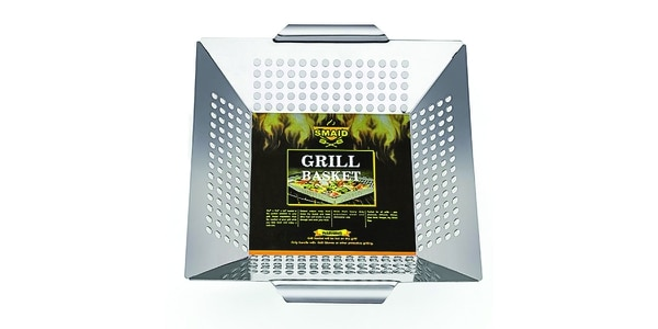 SMAID Stainless Steel Grill Basket (Image via Amazon)