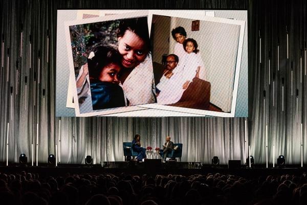 Michelle Obama at the Moda Center, March 19, 2019 (Justin Katigbak)