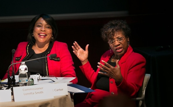 Multnomah County Commissioner Loretta Smith and Sen. Margaret Carter (Multnomah County)