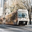 MAX train in downtown Portland. (TriMet)