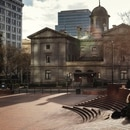 Pioneer Courthouse Square on March 22, 2020. (Aaron Wessling)