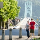 Strolling near the St. Johns Bridge. (WW archives)