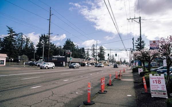 A STREET TOO WIDE: 40% of pedestrian fatalities occurred on five-lane streets. (Sam Gehrke)