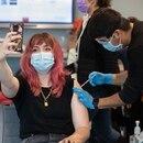 COVID-19 vaccine selfie. (Motoya Nakamura / Multnomah County)