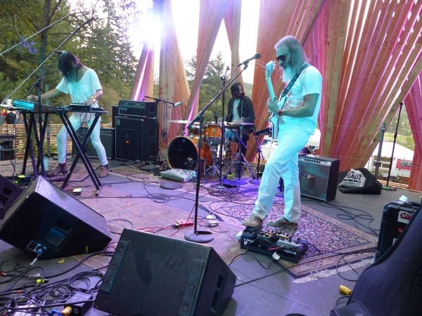 Moon Duo at the Treeline Stage. IMAGE: Julie Showers.