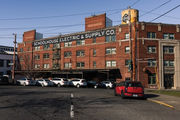 Brian Faherty moved his company, Schoolhouse Electric & Supply Co., to this unreinforced masonry building in 2011. Now he fears it will ruin him. (Justin Katigbak)