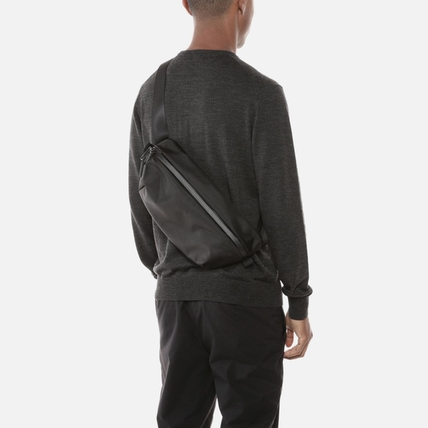 Aer's bag can be worn across the back, across the chest and over the shoulder. (Aer)
