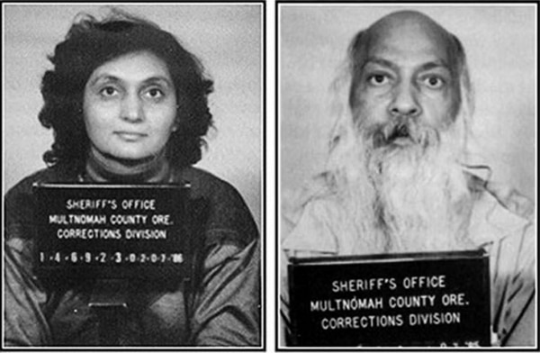 Ma Anand Sheela and Bhagwan Shree Rajneesh.