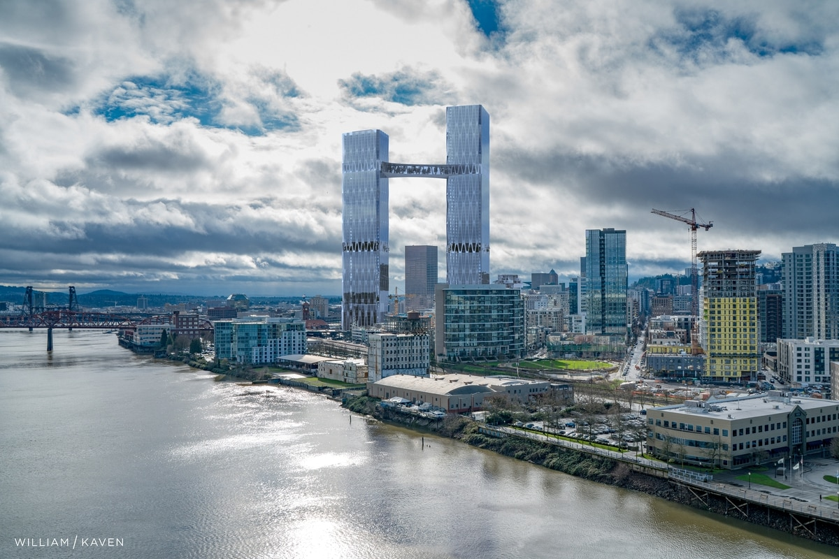 Google Tokyo Office Two Towers Nearly Twice The Height Of Big Pink A Portland