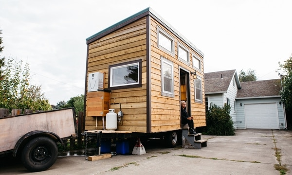 DOWNSIZING: A handcrafted tiny home in the Cully neighborhood is among the first of the new homes sanctioned by the city of Portland this month. (Christine Dong)