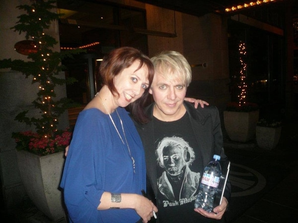 Amanda Taplin with Nick Rhodes in downtown Portland, 2011. IMAGE: Courtesy of Amanda Taplin.