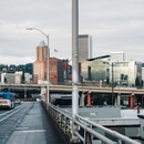 Downtown Portland and the Morrison Bridge (TriMet)