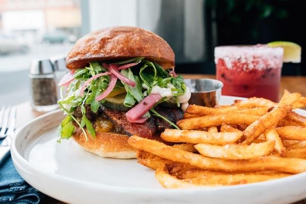 The smash burger at Craft PDX. (Henry Cromett)