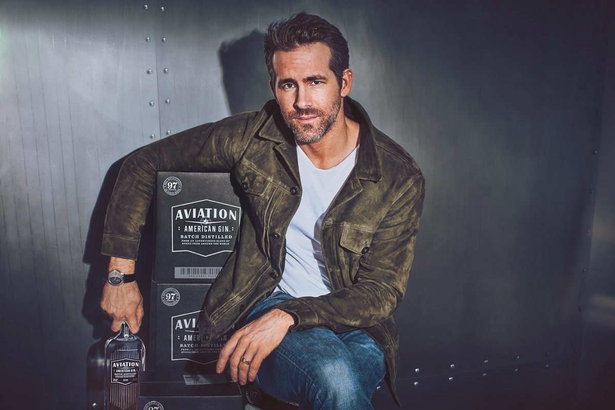 Image result for ryan reynolds aviation gin