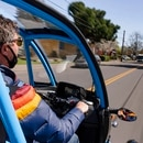 Test-driving an Arcimoto. (Wesley Lapointe)
