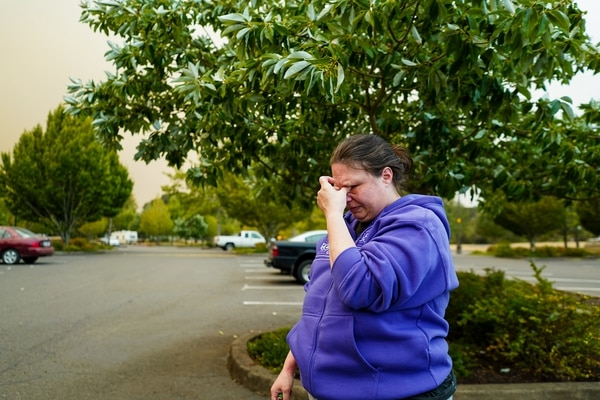 Jennifer Cox evacuated from Estacada early on Sept. 9. (Alex Wittwer)
