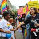 Gov. Kate Brown at Pride 2017. (Office of the governor)