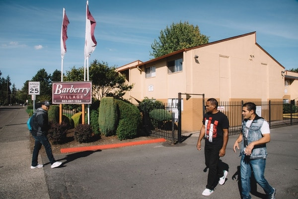 Since Barberry Village began renting to refugee families, crime at the apartment complex has plummeted. (Joe Riedl)