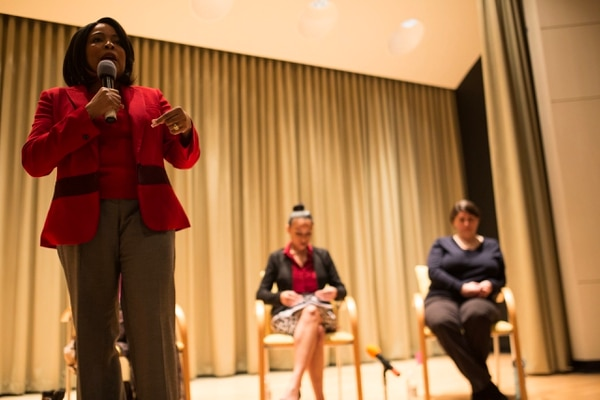 Multnomah County Commissioner Loretta Smith at a recent candidate forum.