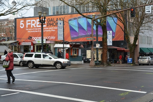 The location the billboard would have been at 12th and Alder.