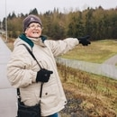 Linda Robinson, chair of Friends of Gateway Green, hopes the new park will open in June. (Christine Dong)