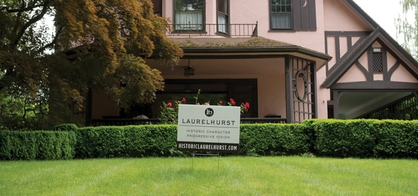 Historic Laurelhurst campaign signs are common sights in the neighborhood. (Nino Ortiz)