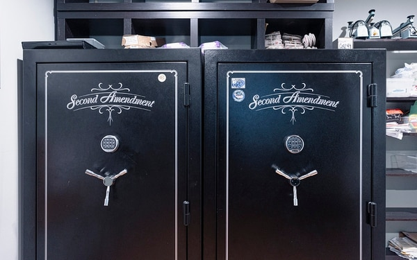LOCK UP: John Monteleone III, who owns Fidus, keeps his cash stored in massive black safes.